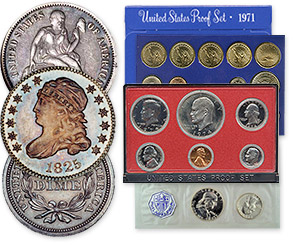 coin collection - proof and mint sets