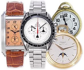 wrist watches, pocketwatches, Patek Philippe, Cartier, Rolex