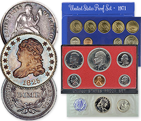 coins - proof and mint sets