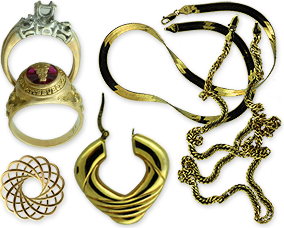 platinum, silver and gold jewelry