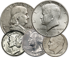 silver coins - JFK half dollars and more